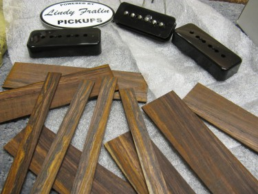 Cocobolo Rosewood cut for pickups
